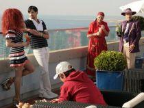 """Ultimele cadre ale lung-metrajului """"State si Flacara-vacanta la Nisa"""", filmate pe acoperisul unui hotel de lux din Nisa - FOTO"""