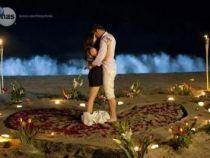 Maite Perroni si William Levy - noapte romantica pe plaja cu lumanari si petale de trandafiri - FOTO
