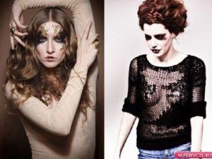Stilul flapper - noul trend? Modelul din videoclipul lui Smiley este machiat la fel ca Iulia Albu