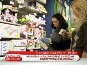 Nicoleta Luciu, in cautare de cadouri pentru cei patru copii - VIDEO
