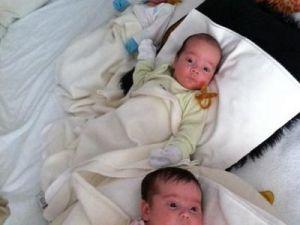 Tripletii Nicoletei Luciu, in asteptarea lui Mos Craciun