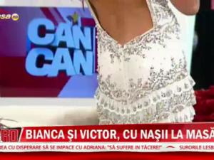 Bianca Dragusanu si Victor Slav, intalnire de taina cu nasii. Cum va arata rochia de mireasa VIDEO