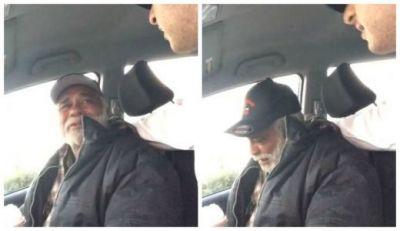 Un veteran s-a urcat in masina unui necunoscut si a avut parte de o surpriza. Batranul nu si-a putut stapani lacrimile