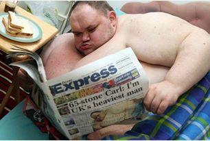 Cantarea 400 de kg si era considerat cel mai gras om din Marea Britanie. Cum arata barbatul cu o saptamana inainte sa moara
