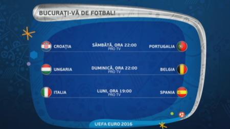 Soc in optimi la Euro. Ce meci vedem in direct pe ProTV