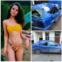 A cazut de la peste 50 de metri de la balcon dupa ce s-a certat cu iubitul ei. Ce a urmat dupa ce a aterizat pe un Volkswagen Golf