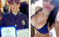 Lucreaza ca politista in timpul zilei si ca model de lenjerie intima noaptea... Cum reactioneaza infractorii cand o vad