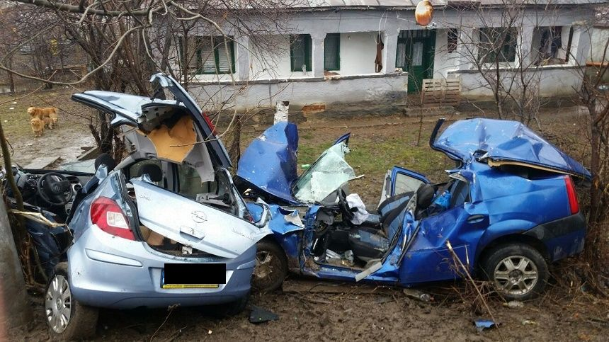 Accident socant in Romania. Ce s-a intamplat dupa impact