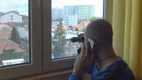 A auzit un zgomot puternic si s-a uitat pe fereastra. Socul trait de un barbat din Baia mare cand a vazut ce se intamplase. FOTO