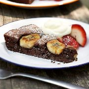 Brownie cu banane dietetic