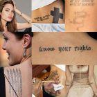 GALERIE FOTO Toate tatuajele Angelinei Jolie explicate! Vezi ce mesaj are fiecare!