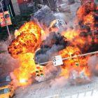 Scene apocaliptice la filmarile pentru The Avengers: cum a fost aruncata o strada in aer