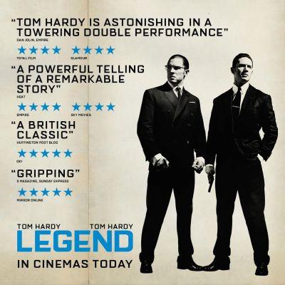 O miscare geniala de marketing? Ce nu este in regula cu afisul filmului Legend, cu Tom Hardy