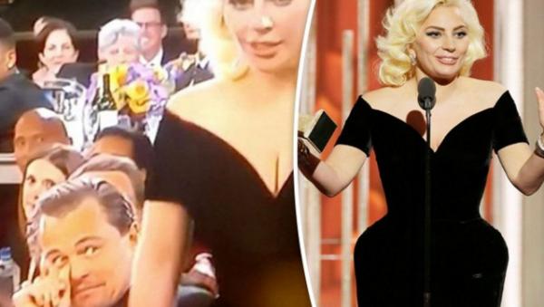 Cele doua momente cu care Leonardo DiCaprio  a rupt  internetul: reuniunea cu Kate Winslet si reactia amuzanta pe care a avut-o cand a trecut Lady Gaga pe langa el