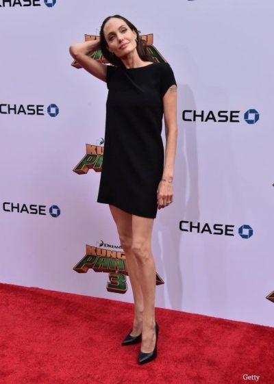 Angelina Jolie, aparitie ingrijoratoare la premiera  Kung Fu Panda 3 . Cum a aparut vedeta intr-o rochie neagra si scurta