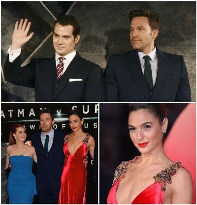 Aparitii senzationale la premiera filmului Batman versus Superman: Dawn of Justice. Wonder Woman a cucerit Londra intr-o rochie rosie GALERIE FOTO