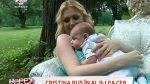 Prima sedinta foto a fiului Cristinei Rus