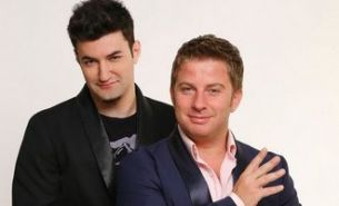 "Smiley si Pavel Bartos - prezentatorii emisiunii ""Romanii au talent"" de la ProTV FOTO"