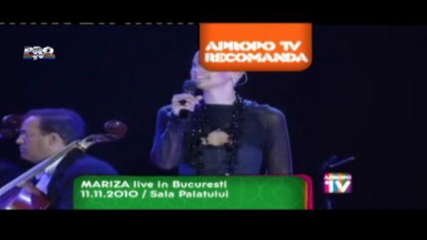 Apropo Tv recomanda: Mariza live in Bucuresti