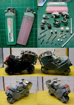 Curiozitati: Mini motociclete din brichete! GALERIE FOTO