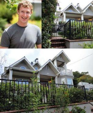 Mark Zuckerberg,fondatorul Facebook, locuieste cu chirie intr-o vila modesta! FOTO