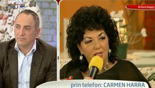 """Carmen Hara, prin telefon, despre divortul Columbenilor: """"Il vad mult mai afectat pe el, in interiorul lui, decat pe ea VIDEO"""