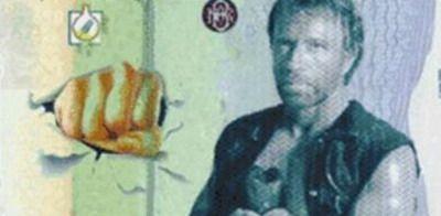Pe asta nu o stiai: Chuck Norris pe bancnota de INFINIT :) FOTO
