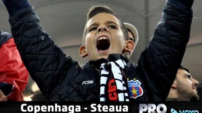 Copenhaga - Steaua live video pe ProTV si Voyo.ro, de la 20:00. In ce conditii se califica echipa lui Reghecampf in primavara europeana