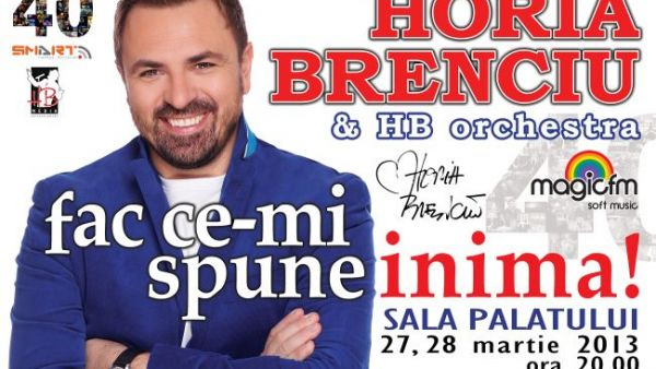"Horia Brenciu se pregateste de turneul national ""Fac ce-mi spune inima"""