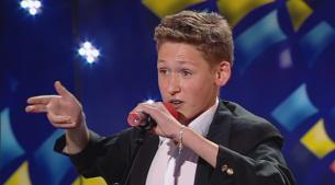 Un baiat de 13 ani cu un talent fabulos. Toata sala s-a cutremurat de ras cand a inceput sa-l imite pe Gigi Becali