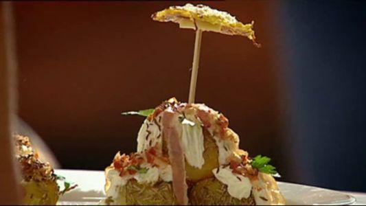 Profiterol din cartofi cu arici pogonici si cuib de varza