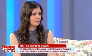 "Monica Gabor: ""Era cat pe ce sa organizez o intalnire intre presedintele Romaniei si Barack Obama. Atat de important e Mr. Pink"""