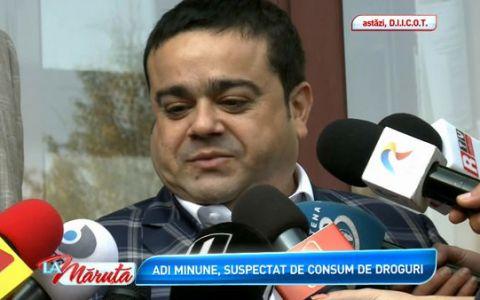 Adrian Minune, suspectat de consum de droguri:  Am dat o declaratie scurta, pe o foaie alba, sunt martor, nu invinuit