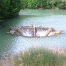 Barajul de pe Valea Videi din judetul Bihor este celebru pentru palnia din mijlocul lacului. In realitate