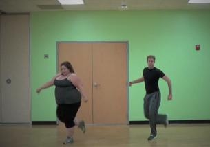 Are peste 100 kg, dar danseaza senzational! Sute de mii de oameni au ramas impresionati de miscarile ei: VIDEO