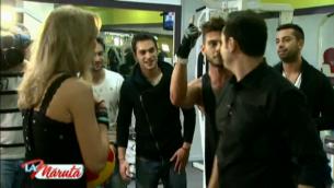 Dorian Popa si Vlad Gherman, surprinsi in compania uneia dintre cele mai sexy blonde din showbiz