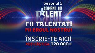 """Popor talentat esti chemat la inscrierile pentru Sezonul 5 """"Romanii au talent""""! Inscrie-te acum!"""