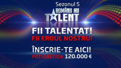 Popor talentat esti chemat la inscrierile pentru Sezonul 5  Romanii au talent ! Inscrie-te acum!