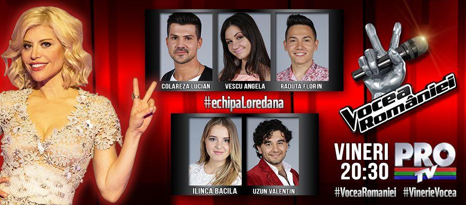 Loredana, cel mai greu de impresionat antrenor de la Vocea Romaniei, si-a completat deja echipa cu 5 concurenti cu voce speciala