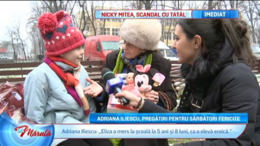 Adriana Iliescu, pregatiri pentru sarbatori fericite