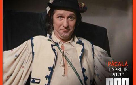 Pe 1 Aprilie, la PRO CINEMA razi alaturi de Pacala, personaj emblematic al comediei romanesti!