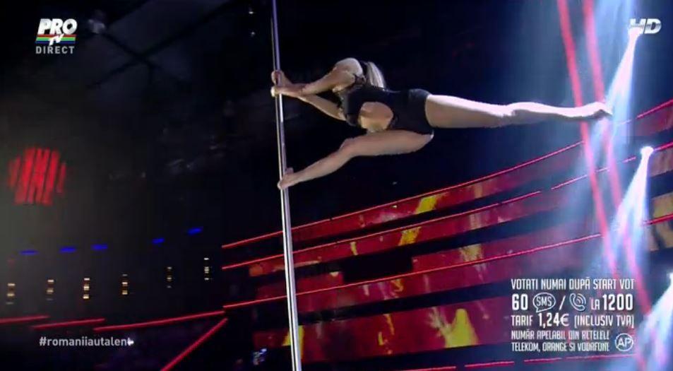 Yeva Shiyanova, show pe scena de la  Romanii au talent . A dansat in faina, iar acum a revenit cu un numar incendiar