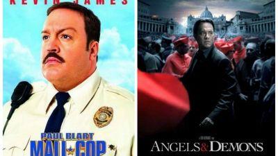 Filme de weekend: Sambata -  Paul, mare politist la Mall  si Duminica -  Ingeri si demoni , de la 20:30!