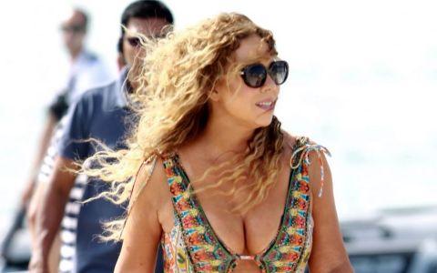 Imaginile cu Mariah Carey fac inconjurul internetului. Ce moment stanjenitor au surprins toti fotografii