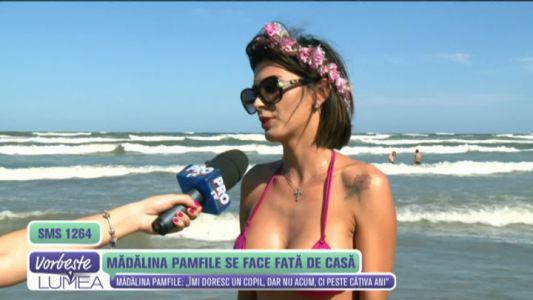 Madalina Pamfile se face fata de casa