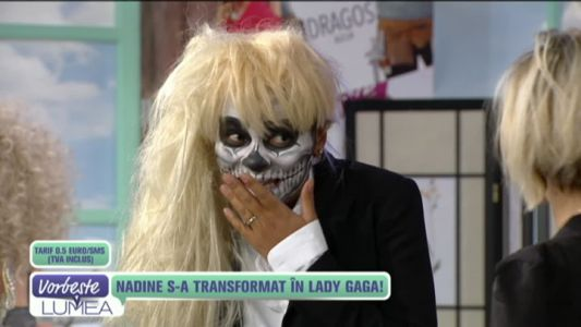 Nadine s-a transformat in Lady Gaga!