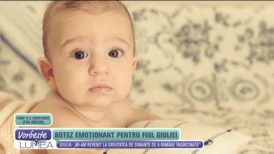 Botez emotionant pentru fiul Giuliei