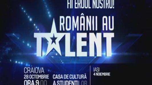 "Orice talent ai, trebuie sa-l vada toata Romania. Vino la preselectiile ""Romanii au talent"". Vezi cand ajunge caravana la tine in oras"