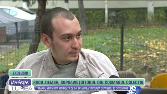 Radu Ziemba, supravietuitorul din cosmarul Colectiv