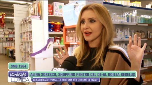 Alina Sorescu, primele cumparaturi pentru bebelus